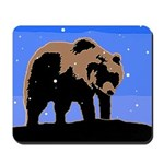 Winter Grizzly Bear Mousepad