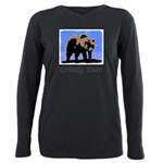 Winter Grizzly Bear Plus Size Long Sleeve Tee