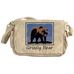 Winter Grizzly Bear Messenger Bag
