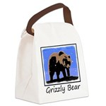 Winter Grizzly Bear Canvas Lunch Bag
