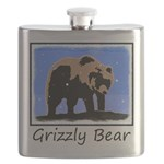 Winter Grizzly Bear Flask