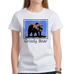 Winter Grizzly Bear Women's Classic White T-Shirt