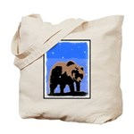 Winter Grizzly Bear Tote Bag