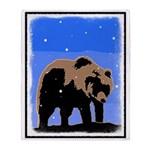 Winter Grizzly Bear Throw Blanket