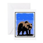 Winter Grizzly Bear Greeting Cards (Pk of 10)