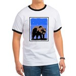 Winter Grizzly Bear Ringer T