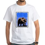 Winter Grizzly Bear White T-Shirt