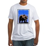 Winter Grizzly Bear Fitted T-Shirt