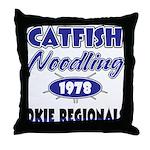Catfish Noodling Throw Pillow