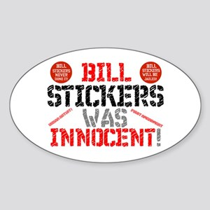 BILL STICKERS WAS INNIOCENT,POSTERS,ADVERT Sticker