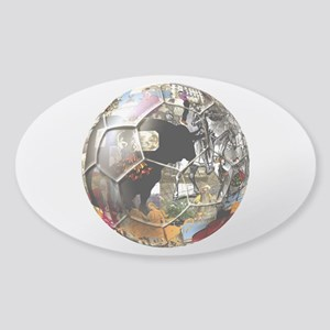 Culture of Spain Soccer Ball Sticker (Oval)