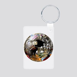Culture of Spain Soccer Ball Aluminum Photo Keycha