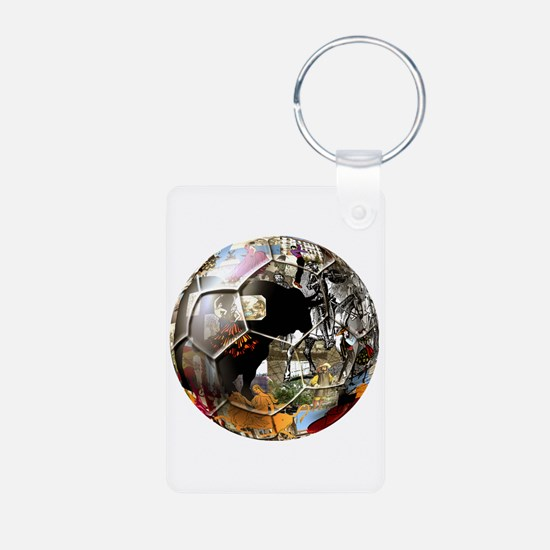 Culture of Spain Soccer Ball Keychains