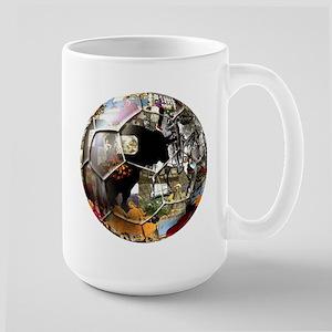Culture of Spain Soccer Ball Large Mug