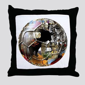 Culture of Spain Soccer Ball Throw Pillow