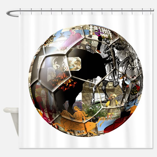 Culture of Spain Soccer Ball Shower Curtain