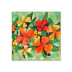 Tropical Flowers Square Sticker 3
