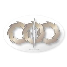 Triple wheel Bolt Sticker (Oval)