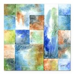 Slated Watercolor Square Car Magnet 3