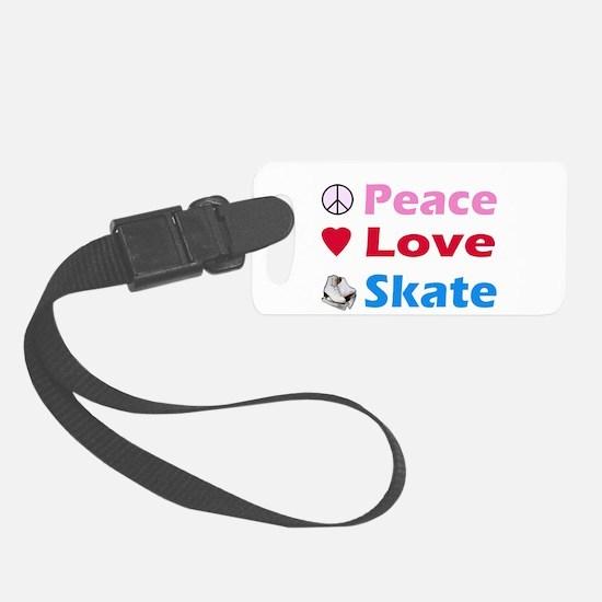 Peace Love Skate Luggage Tag