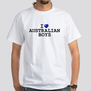 I Heart Australian Boys White T-Shirt