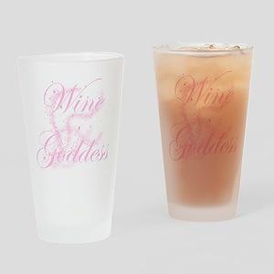 WineGoddessGlitter Drinking Glass