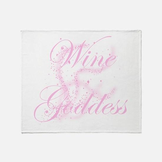 WineGoddessGlitter.png Throw Blanket