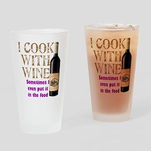 ICookWithWine Drinking Glass