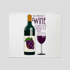 WineFruitServing Throw Blanket
