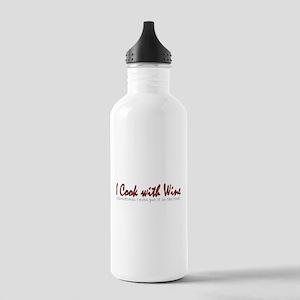 ICookWithWineNoBottle Stainless Water Bottle 1