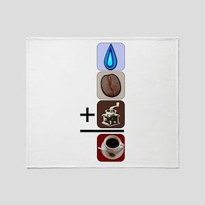 Coffee Formula Throw Blanket