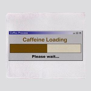 CaffeineLoading Throw Blanket