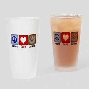 PeaceLoveCoffee-Sideways Drinking Glass