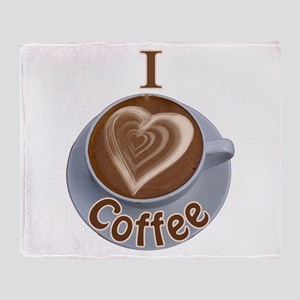 ILoveCoffeeCup.PNG Throw Blanket