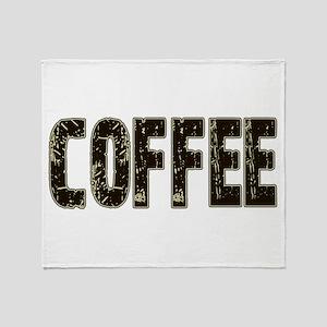 CoffeeBrownCream Throw Blanket