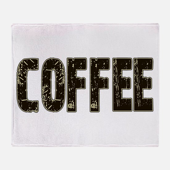 CoffeeBrownCream.PNG Throw Blanket