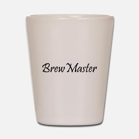 BrewMasterFilledBlack.png Shot Glass