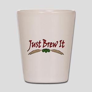 JustBrewIt-White Shot Glass