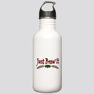 JustBrewIt-White Stainless Water Bottle 1.0L