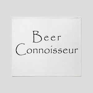3-BeerConnoisseur Throw Blanket