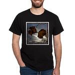 Leaves in Winter Black T-Shirt