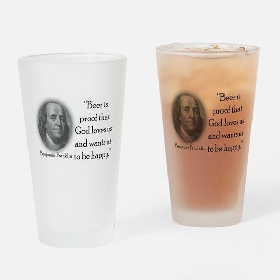 BenFranklinCPBlack.png Drinking Glass