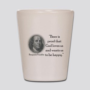 BenFranklinCPBlack Shot Glass