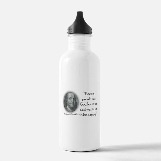 BenFranklinCPBlack.png Water Bottle