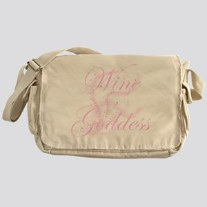 WineGoddessGlitter Messenger Bag