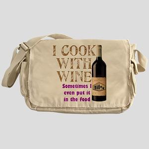 ICookWithWine Messenger Bag