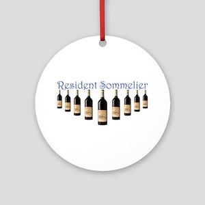 Resident Sommelier Ornament (Round)