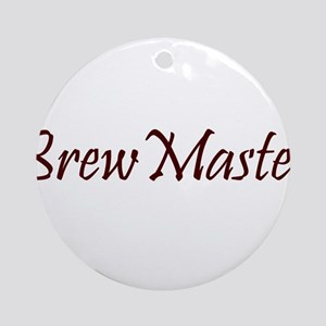 BrewMasterFilledBrown.png Ornament (Round)
