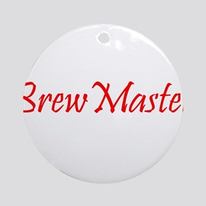 BrewMasterFilledRed.png Ornament (Round)