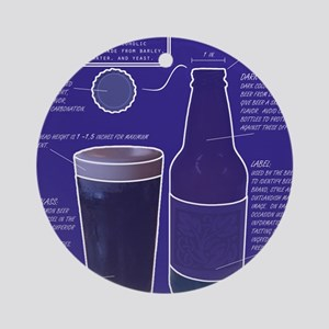 BeerBluePrint Ornament (Round)